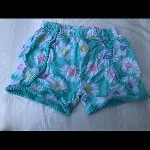 Flowy Daisy Print Shorts